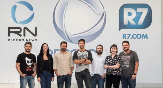 Equipe do Câmera Record que participou da produção da reportagem