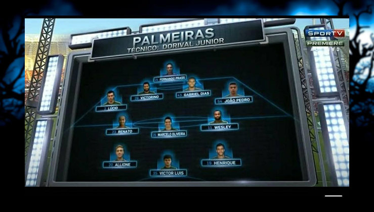 Equipe do Palmeiras quase rebaixada para Série B, em 2014. A queda foi evitada pelo rival Santos.