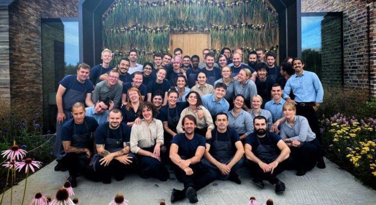 A equipe do restaurante Noma, comandada pelo chef René Redzepi