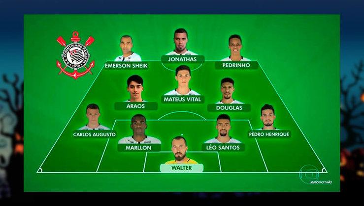 Equipe mista do Corinthians comandada pelo técnico Jair Ventura em 2018.
