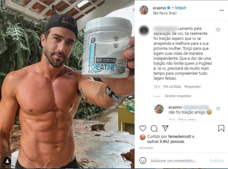 Erasmo Viana nega que tenha traído Pugliesi
