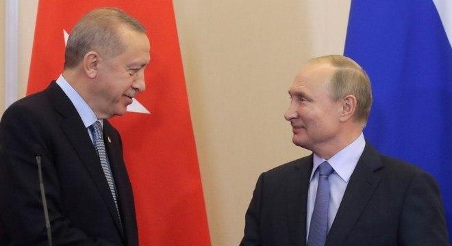 Os dois chefes de Estado afirmam seu apego à solução da situação em Idlib