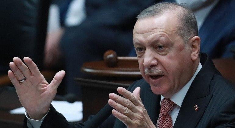 Presidente da Turquia, Recep Tayyip Erdogan,