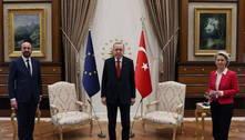 Presidente turco deixa líder da UE sem cadeira em reunião em Ancara