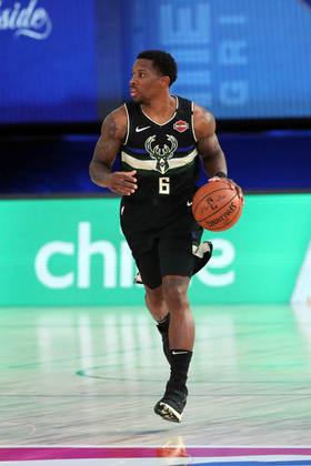 Eric Bledsoe (Milwaukee Bucks) 6,5 - Não foi bem nos arremessos de três, acertando somente uma das cinco tentativas, mas Bledsoe contribuiu com 15 pontos e cinco assistências em 27 minutos