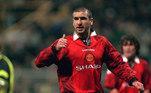 Eric Cantona: Escolhido pelo voto popular para entrar no Hall da Fama. Clubes na Premier League - Leeds United e Manchester United. Posição - Atacante