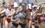 Às 04h30 a atletaErica Sena busca mais uma medalha para o Brasil na final da marcha atlética de 20km