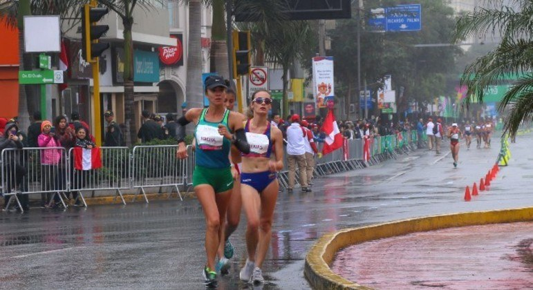 Erica Sena acabou em 11º lugar na marcha atlética