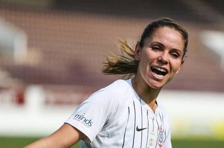 Érika fez o gol de empate do Corinthians no 1º jogo