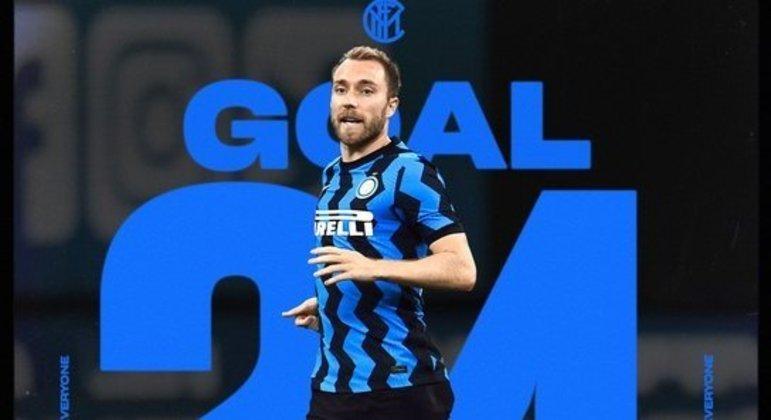 Eriksen, o desprezado, mal entrou em campo e realizou o gol da vitória da Inter