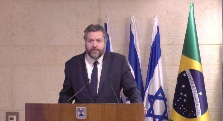 Araújo também terá reunião com o primeiro-ministro Benjamin Netanyahu