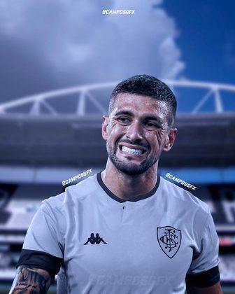 Erro na magia?! Arrascaeta, referência do Flamengo, vestindo a camisa do Botafogo.