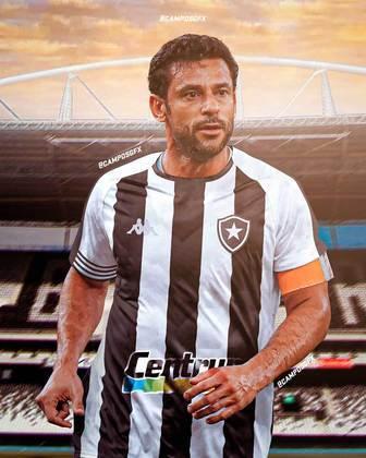 Erro na magia?! Fred, ídolo do Fluminense, vestindo a camisa do Botafogo.