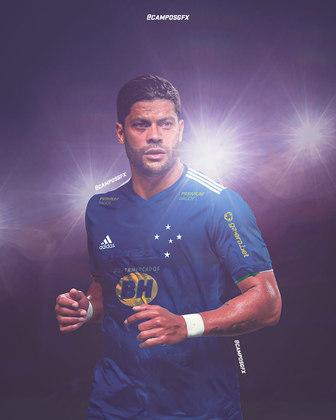 Erro na magia?! Hulk, destaque do Atlético Mineiro, vestindo a camisa do Cruzeiro.