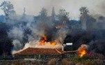 'De acordo com especialistas, há cerca de 17milhões a 20 milhões de metros cúbicos de lava', completou