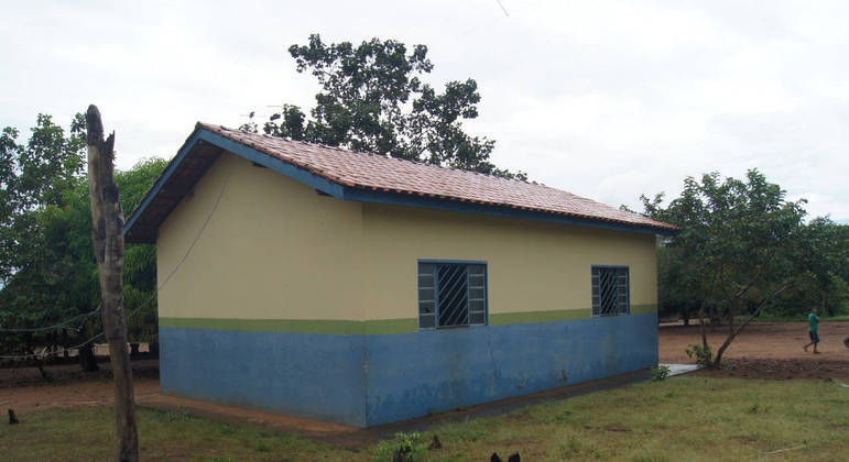 Escola municipal construída dentro de uma aldeia indígena no Território do Xingu