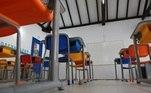 Ao contrário de mais de 100 municípios no interior, as escolas públicas e privadas de Campinas (SP) permaneceram fechadas, no primeiro dia de retorno às atividades presenciais permitidas pelo governo, desde o decreto da quarentena em março deste ano