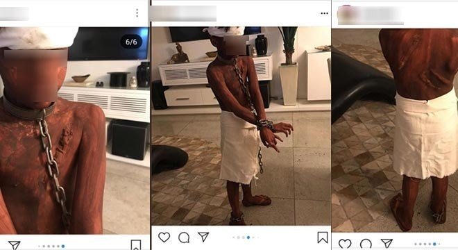 Mãe publicou em sua rede social imagens de seu filho 'fantasiado' para halloween