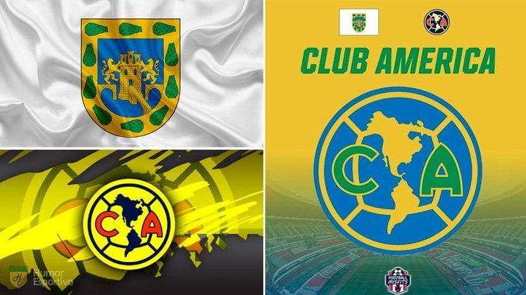 Escudo do América do México com as cores da bandeira da Cidade do México