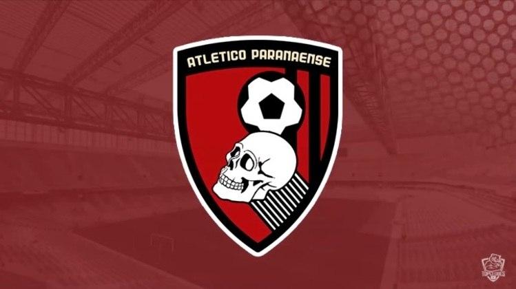 Escudo do Athletico Paranaense com as características do Bournemouth