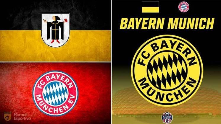 Escudo do Bayern com as cores da bandeira de Munique