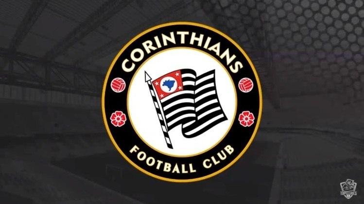 Escudo do Corinthians com as características do Chelsea