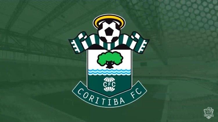 Escudo do Coritiba com as características do Southampton