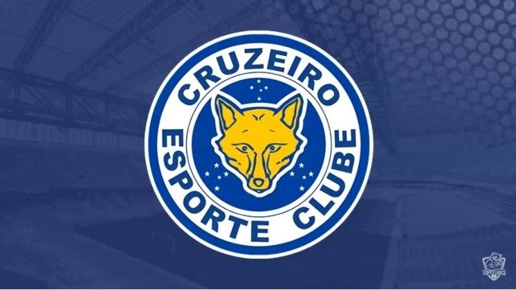 Escudo do Cruzeiro com as características do Leicester