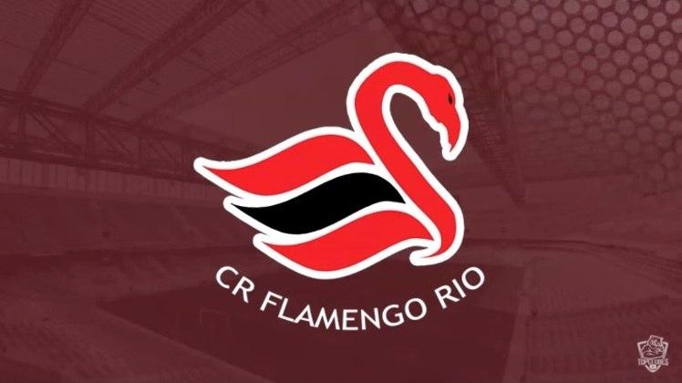 Escudo do Flamengo com as características do Swansea City