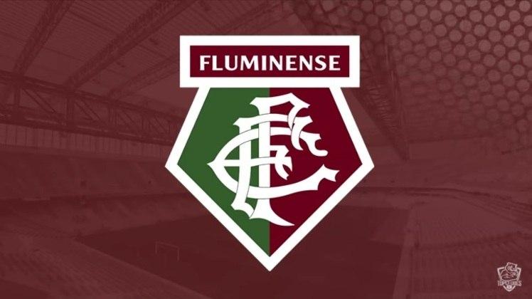 Escudo do Fluminense com as características do Watford
