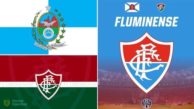 Escudo do Fluminense com as cores da bandeira do Rio de Janeiro