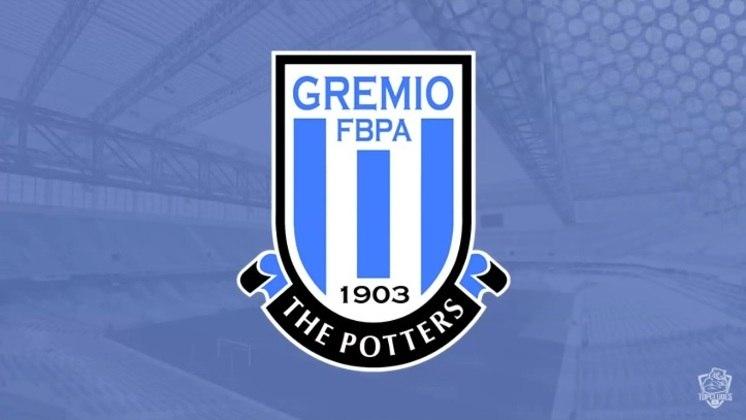 Escudo do Grêmio com as características do Stoke City