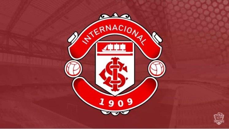 Escudo do Internacional com as características do Manchester United