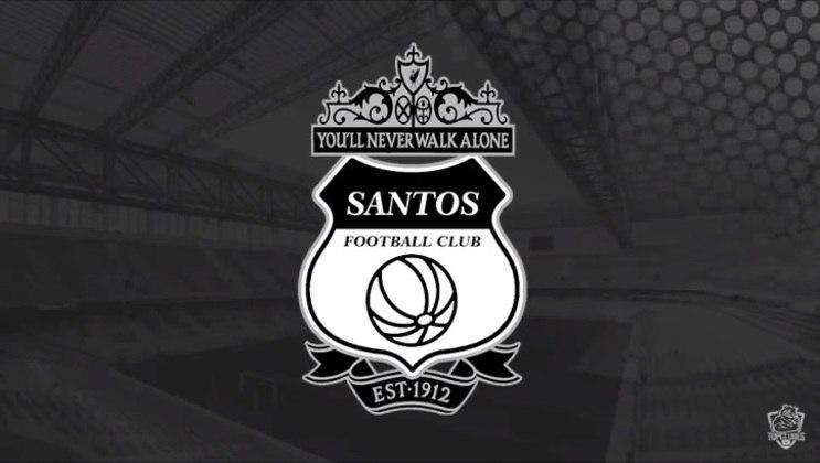 Escudo do Santos com as características do Liverpool