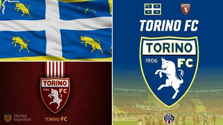 Escudo do Torino com as cores da bandeira de Turim