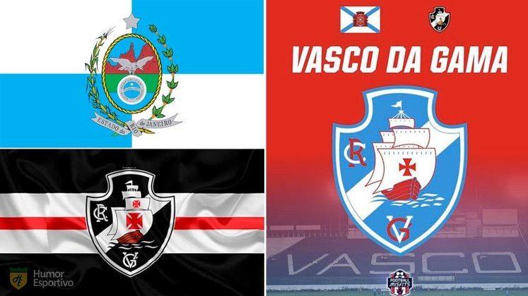 Escudo do Vasco com as cores da bandeira do Rio de Janeiro
