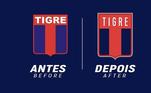 Redesenho de escudos de clubes de futebol: Tigre, da Argentina