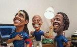 E não podia faltarDirceu Lopes, campeão do Brasileiro 1966, campeão da Libertadores 1976 e nove vezes campeão Mineiro, o ex-jogador tem sua homenagem garantira em escultura