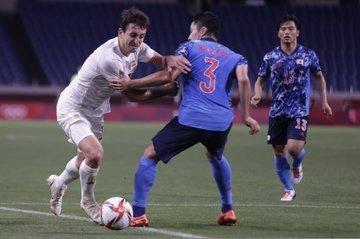 A marcação japonesa exigiu enorme sacrifício dos seus jogadores. A Espanha sofreu