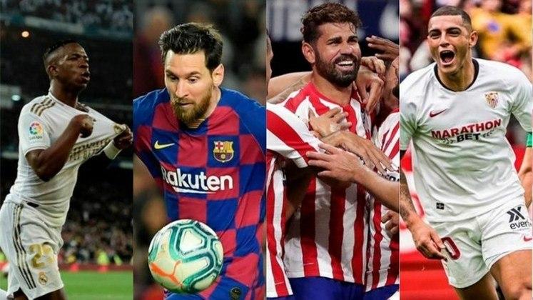 Espanha (La Liga) - Real Madrid, Barcelona, Atlético de Madrid e Sevilla são as equipes classificadas para a Champions League 2020/21