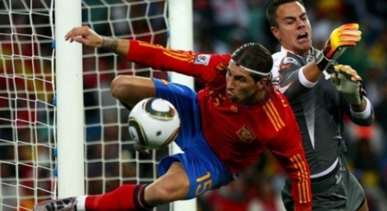 Espanha x Suíça, pela Copa de 2010