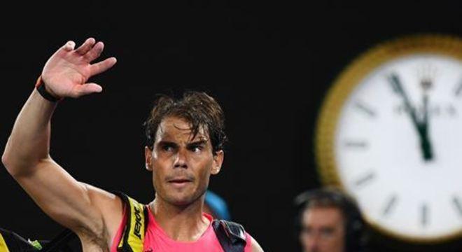 Espanhol foi derrotado pelo austríaco Dominic Thiem por 3 sets a 1, na manhã desta quarta-feira (29)