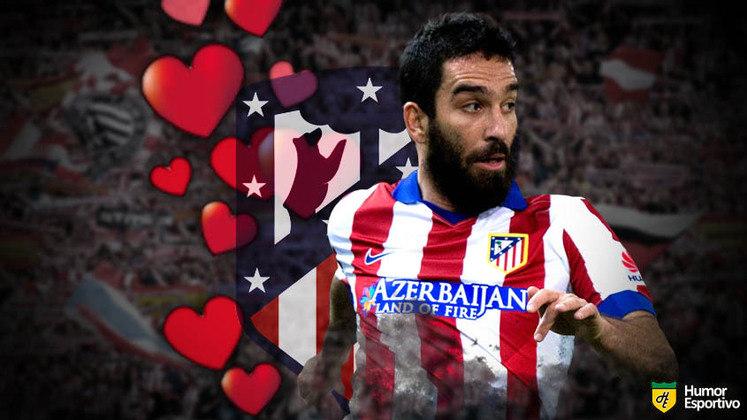 Especial Dia dos Namorados: muito identificado com a torcida do Atlético de Madrid, Arda Turan não foi muito aproveitado no Barcelona e, após algumas temporadas passando mais tempo no banco, foi emprestado para um clube da Turquia