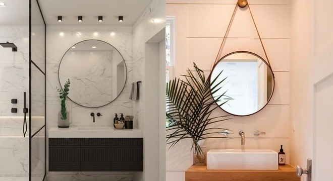 Espelho redondo: saiba como usar o item para modernizar a decoração