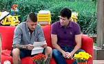 Rodrigo FaroO apresentador fez uma visita surpresa aos peões da sexta temporada do reality. Ele levou cartas e presentes dos familiares para entregar aos participantes, que se emocionaram muito!