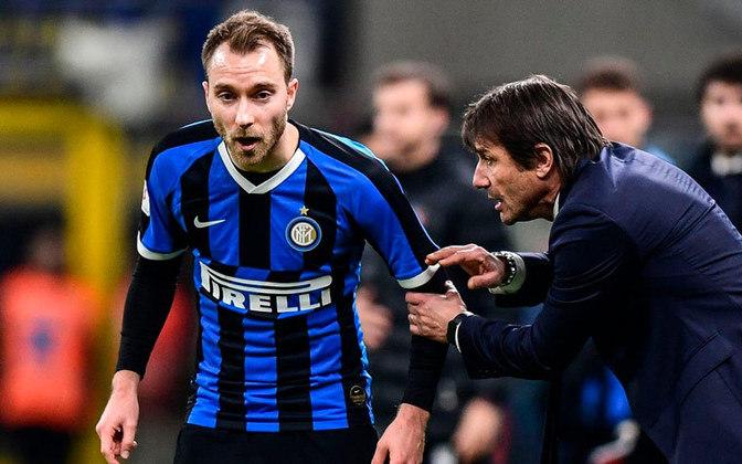 ESQUENTOU - Contratado em janeiro de 2019, Christian Eriksen não conseguiu se firmar na Inter de Milão e deve deixar o clube. De acordo com o