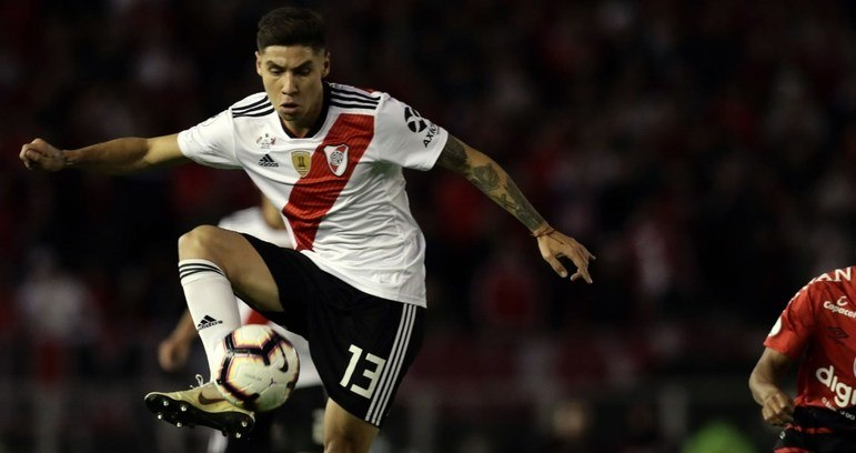 ESQUENTOU - Gonzalo Montiel está próximo de fechar sua ida à Roma pelo valor de sete milhões de euros.