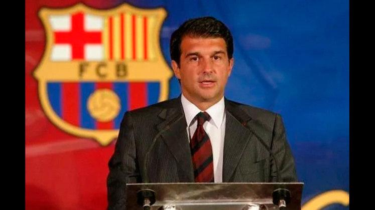 ESQUENTOU - Joan Laporta, presidente do Barcelona, bancou a permanência do técnico Ronald Koeman no clube.