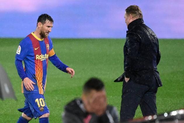 ESQUENTOU - Joan Laporta, presidente do Barcelona, se encontrou com Javier Tebas, mandatário da La Liga na manhã desta sexta-feira para discutir a situação do contrato de Lionel Messi, segundo o jornal