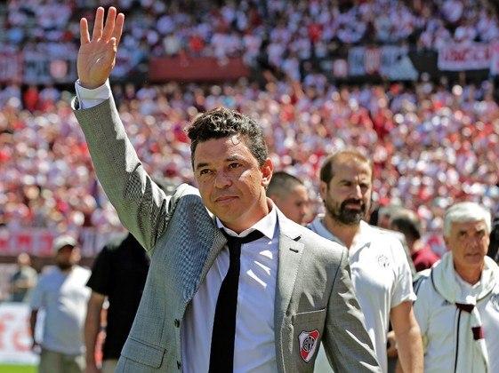 ESQUENTOU – Marcelo Gallardo, do River Plate (ARG), também é um dos nomes fortes cotados para assumir a equipe da Gávea.